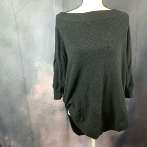 Express crew neck oversized sweater with low back